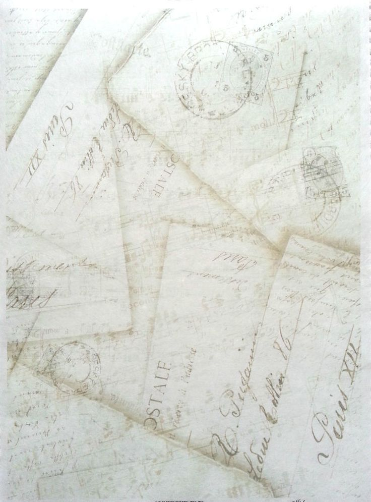 Rice Decoupage Paper / Decoupage Sheets  / Scrapbooking / Old Letters