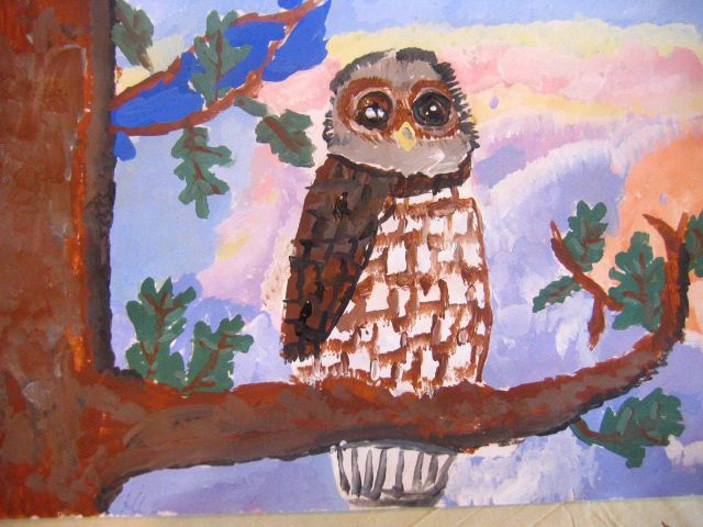11 best Art with kids Owl painting images on Pinterest Babys