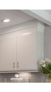 *Moulding Monday* Kitchens with clean lines and a lack of ornate details requires the same treatment for the crown. Here we have just used a simple EK346...