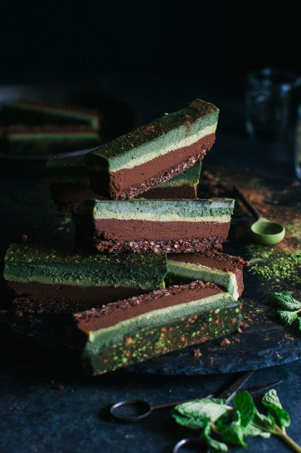 Chocolate Superfood Matcha Mint Slice - The Kitchen McCabe