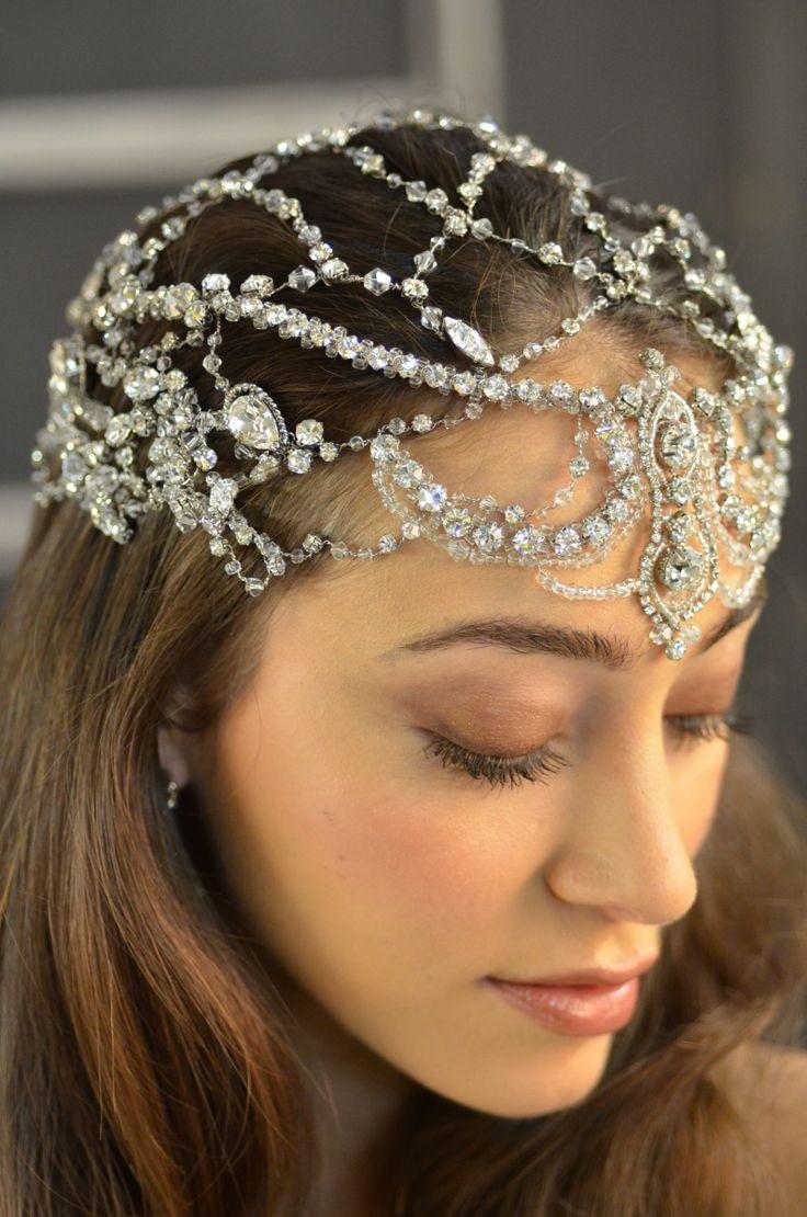 Exquisite Elena Designs E788 Queen Hera Wedding Headpiece - stunning! -Affordable Elegance Bridal -
