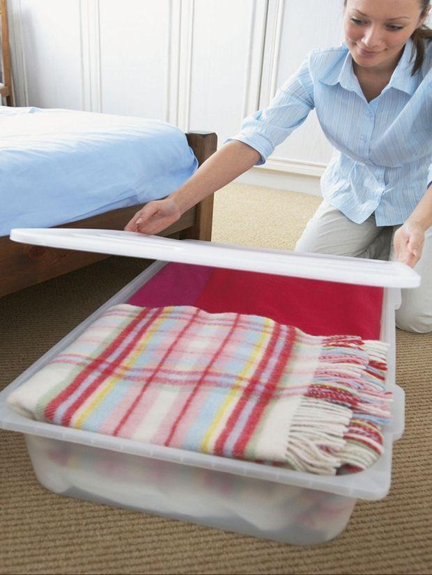 guardar cobertores sem armário