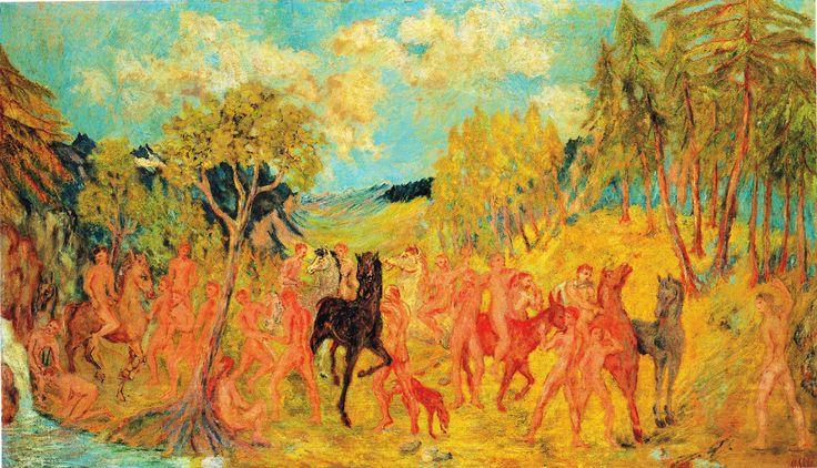 Aligi Sassu, Gli Argonauti in Colchide, 1935 (olio su tela) cm 85x145 – coll. Alfredo Paglione