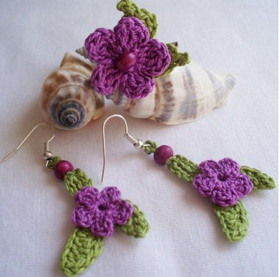 Pendientes II   Crochet earrings, Crochet and Etsy