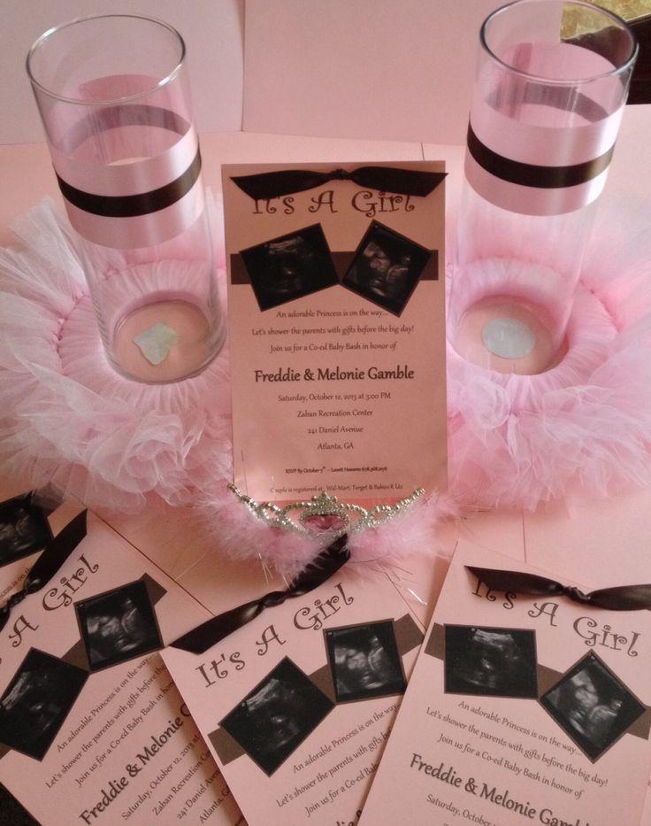 princess tutu and invitations pink and chocolate