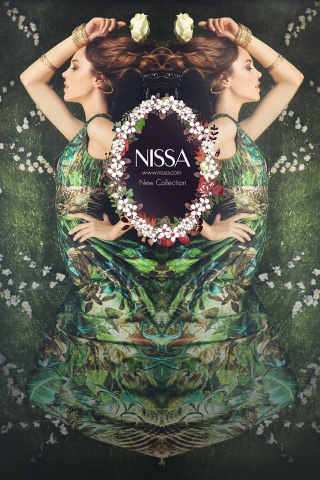 NISSA Spring / Summer Collection 2015  www.nissa.com  #nissa #spring #summer #collection #ss2015 #pv2015 #floral #green #pictorial #fantasy #romantic #flower #frame #fashion #inspiration #fashionista #style #dress #evening #muse #dream #reverie #look #pictorial #campagne