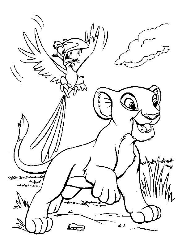 lion king coloring pages - Color Drawing Book