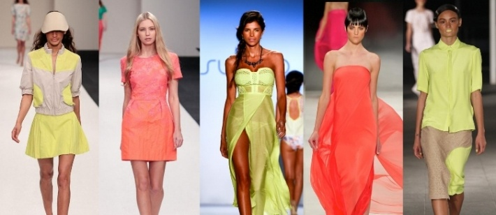 Neon is huge for spring this year. Hot pink, bright green, cobalt blue and orange – they've been seen on everything from coats to dresses and handbags to eye shadow. To read more about our favourite neon looks for the season ahead visit:    http://styleintro.com/articles,show,111,neon-for-s-s-2013.html