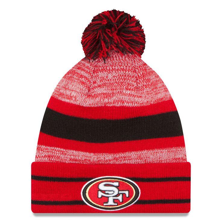 San Francisco 49ers New Era Team Logo Cuffed Knit Hat with Pom - Scarlet