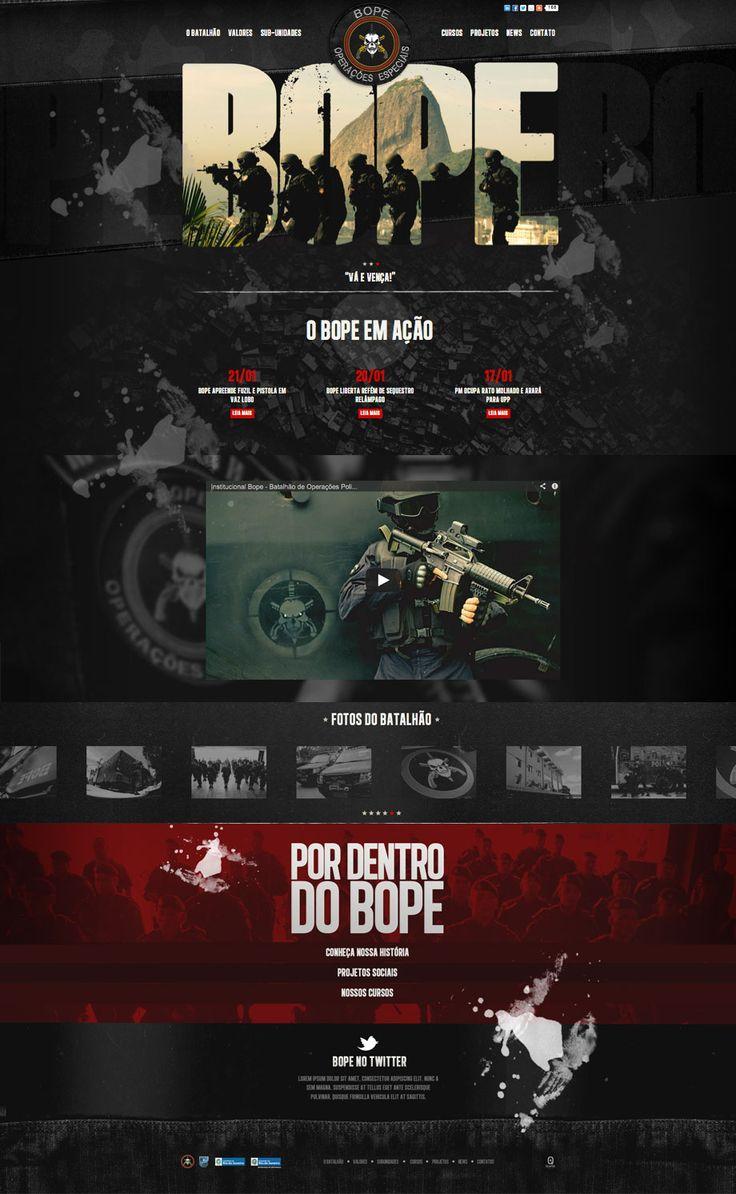 Unique Web Design, Bope Special Operations @lamsonlin #WebDesign #Design (http://www.pinterest.com/aldenchong/)