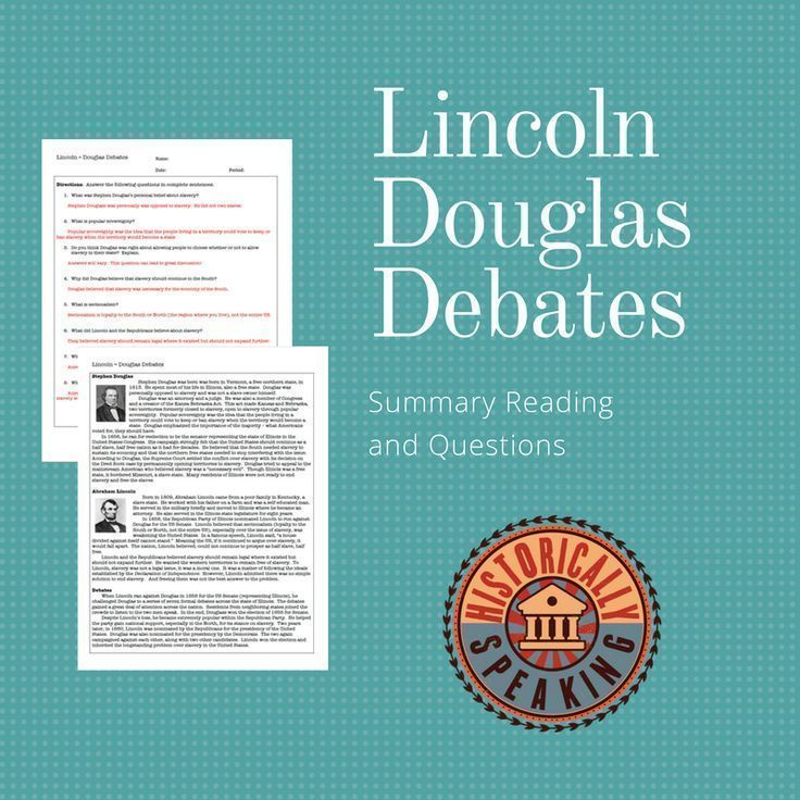 Lincoln becomes a political leader after a series of debates.