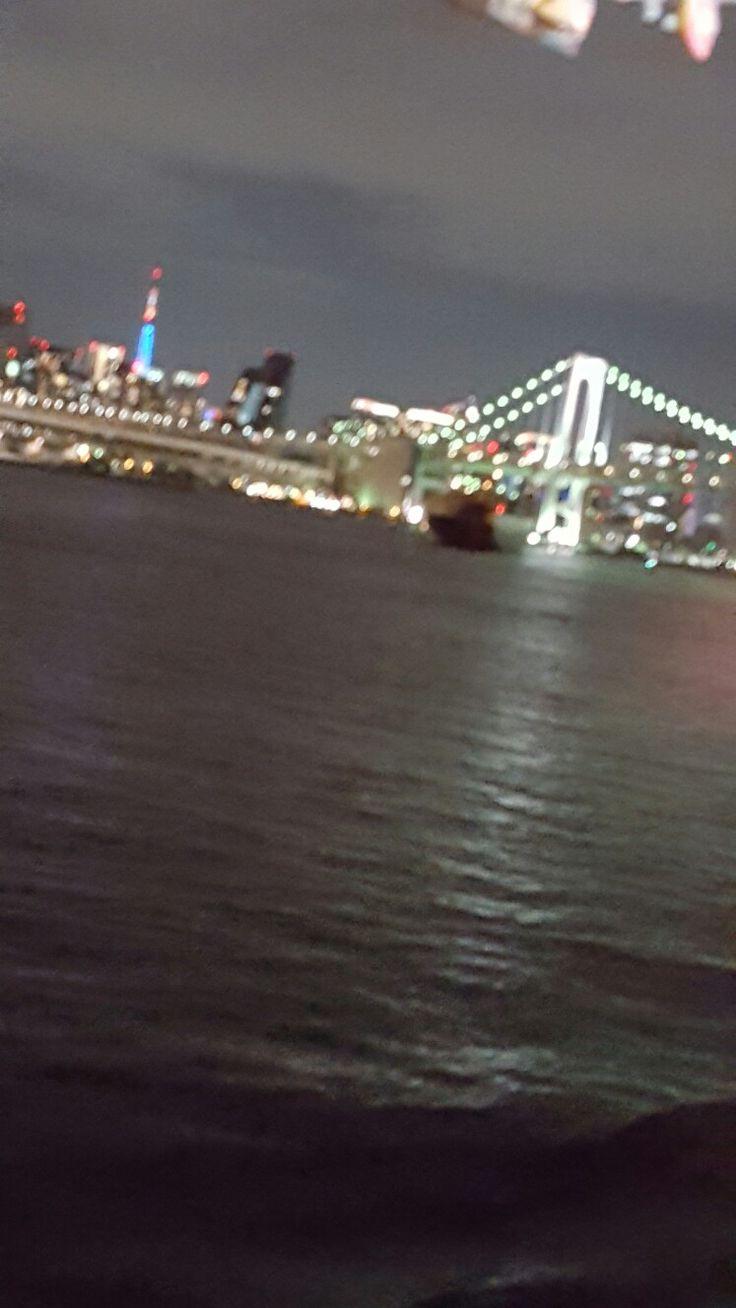 Rainbow bridge, Tokyo Tower Blue light up