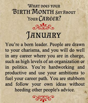 what does your birth month say about your career born in january about me pinterest. Black Bedroom Furniture Sets. Home Design Ideas
