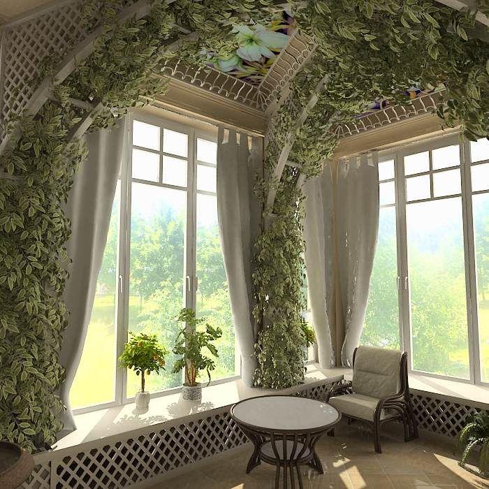 Раскошный зимний сад в..