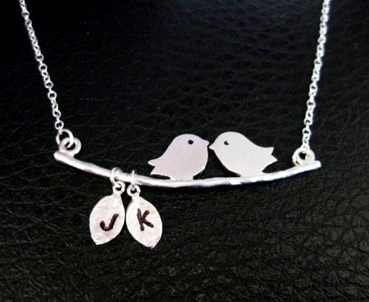 LOVE BIRDS on a Branch Necklace Custom 2 Initial Leaves $39.99Birds Jewelry, Initials Leaves, Branches Necklaces, Gift Ideas, Little Birds, Birds Necklaces, Google Search, Necklaces Custom, Custom Initials
