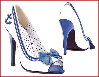 anchor + peep toe heels = amazing!