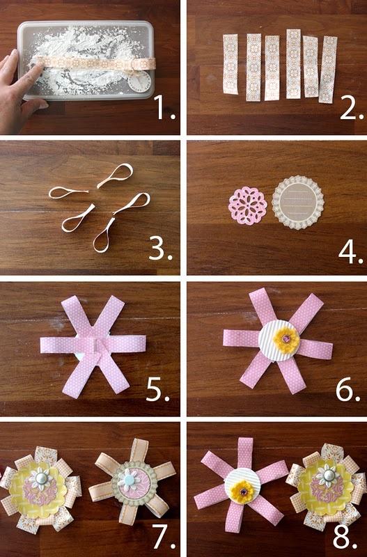 Washi tape flower