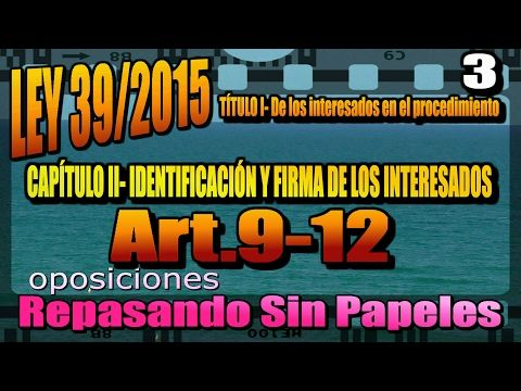 AUXILIAR ADMINISTRATIVO DEL ESTADO Ley 39/2015-III oposiciones - YouTube