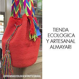 ALMAYARI Artesanias Colombianas.  Arte y conocimiento de los pueblos originarios.  Mochila Wuayuu Mochila Aruaca Objetos decorativos  en madera y arcilla  Envios a todo el país.