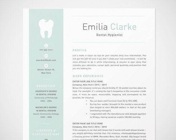 dental hygienist resume template for word rdh  dentist cv