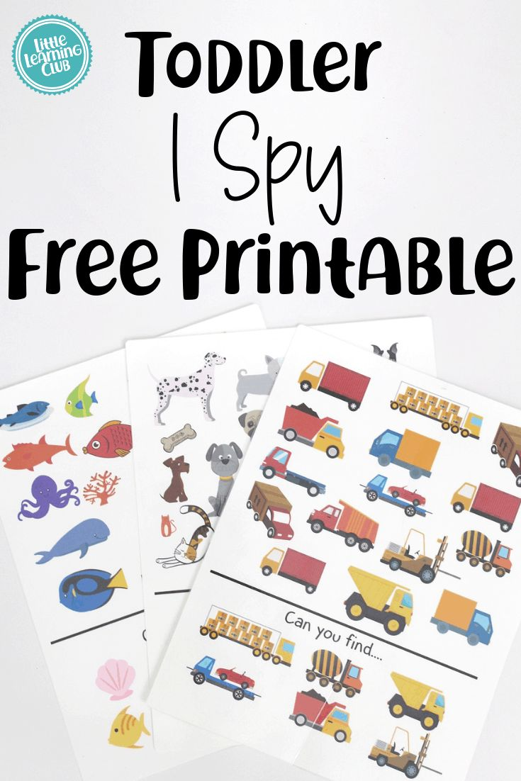 5 Free Busy Bag Printable Activities for Toddlers. I spy for toddlers! Educational activities for preschoolers. Free preschool printables