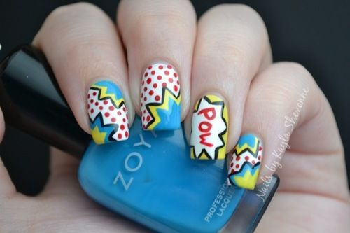 Comic book nails, reminds me of te P. Lim Collection