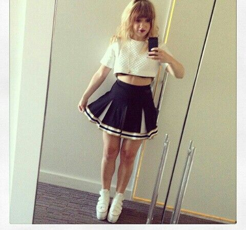 Cheer outfit :3 love the shoes