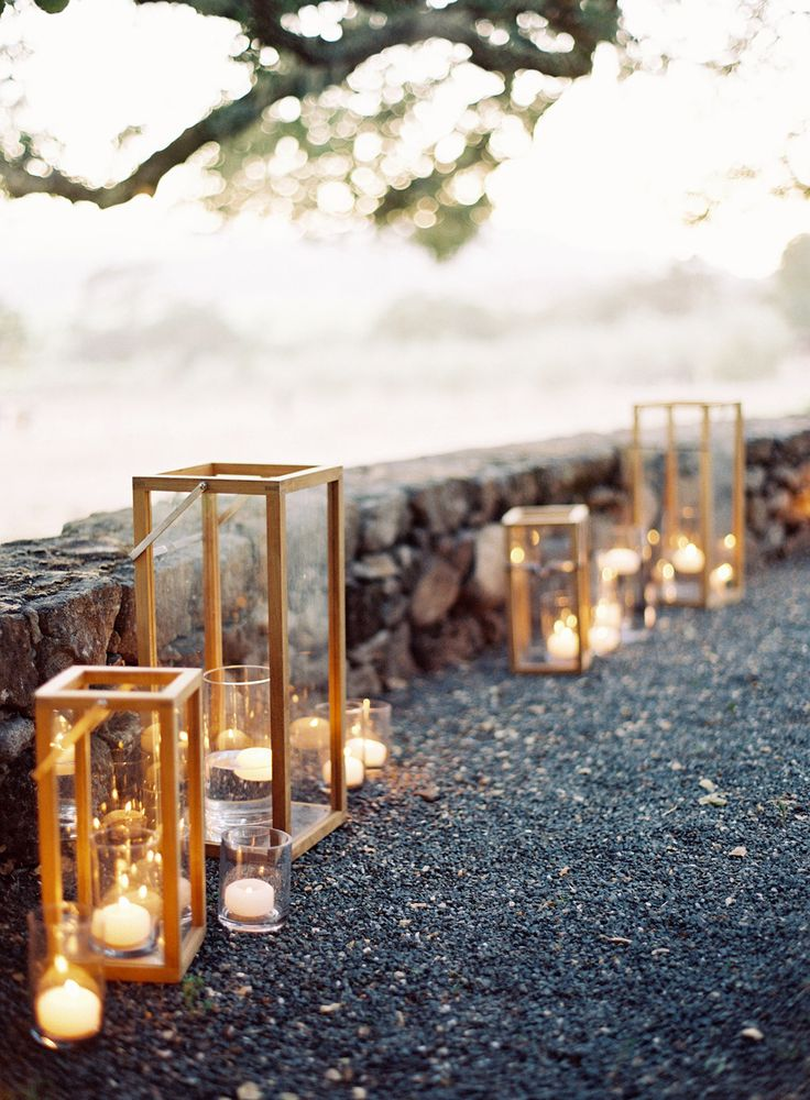 Lovely lighting for a garden wedding. Photography: Jose Villa Photography - josevillaphoto.com