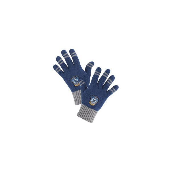 Ravenclaw Striped Gloves ($20) ❤ liked on Polyvore featuring accessories, gloves, harry potter, hogwarts, ravenclaw and striped gloves