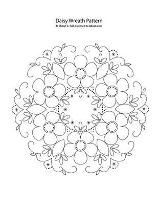 free embroidery pattern; colour it, stitch it, paint it, etc.