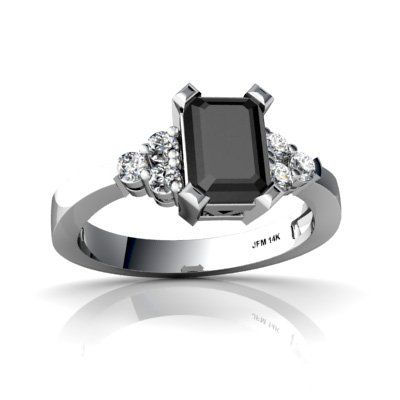 19 alternative engagement rings perfect for proposing to your offbeat beloved - Onyx Wedding Ring
