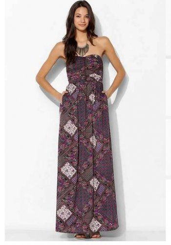 NWT $69 Purple Strapless Maxi Dress Size Medium. On sale for only $45!