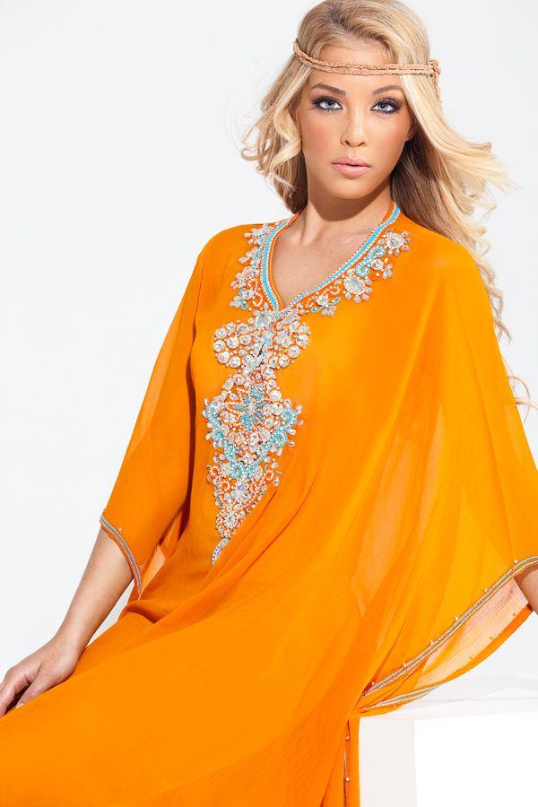 "The ""Sumaya"" Yara Yosif Kaftan dress. Order from YaraYosif.com."