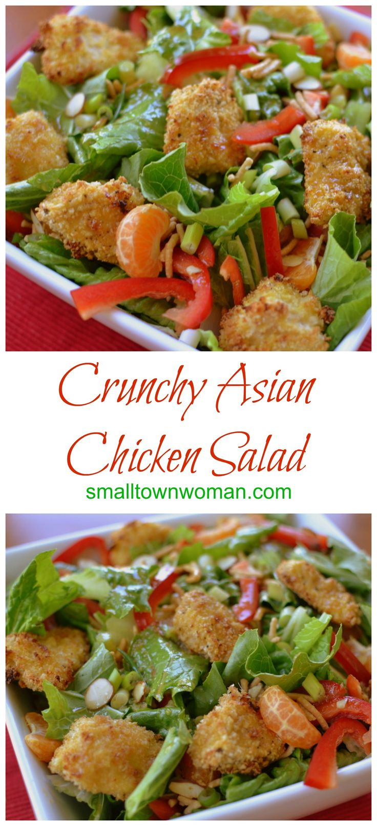 Check out Crunchy Asian Chicken Salad. It's so easy to ...
