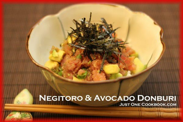 Negitoro & Avocado Donburi (ネギトロアボカド丼ぶり) Recipe | JustOneCookbook.com