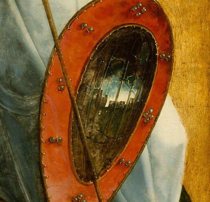 Juan de Flandes - San Miguel y San francisco  |detail