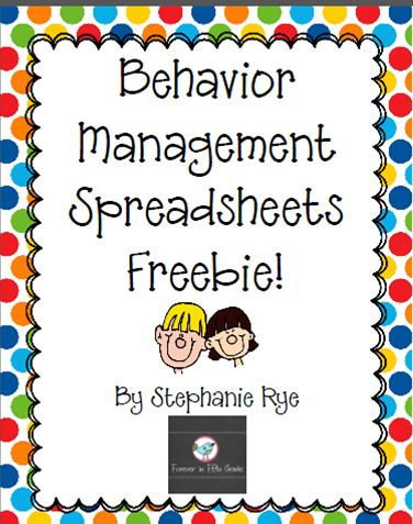 Free Behavior Management Spreadsheets for your whole class!  Read all about it at Forever in Fifth Grade!
