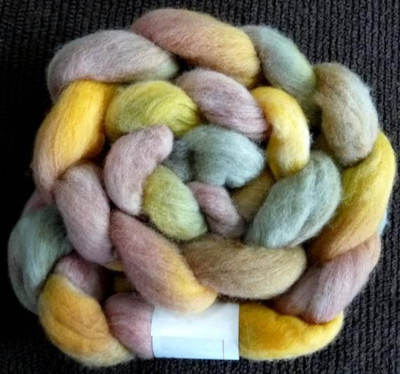 Earth Goddess – Braid – Spinning Roving Felting Top – Hand Dyed Wool – 5 oz   – Products