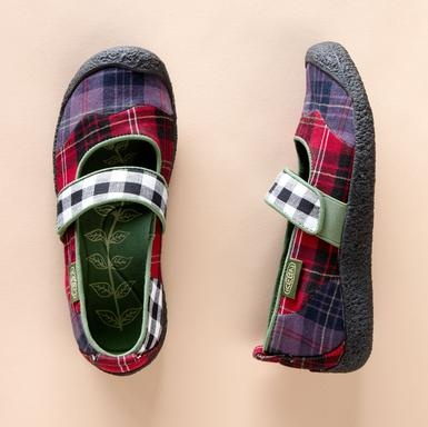 Keen plaid eco- patchwork Mary Janes ($70) -  The smart people at Keen® collected bits of scrap plaid fabric and made them into shoes bound to make you smile.