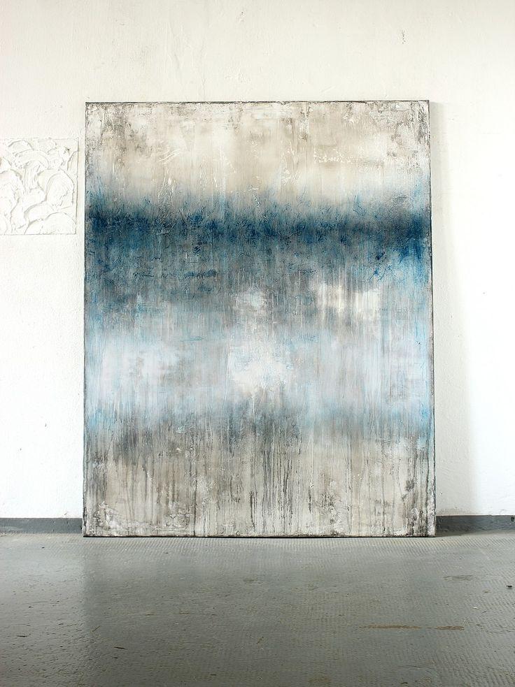 blue glimmering 2016 - 150 x 120 cm - Mischtechnik auf Leinwand,