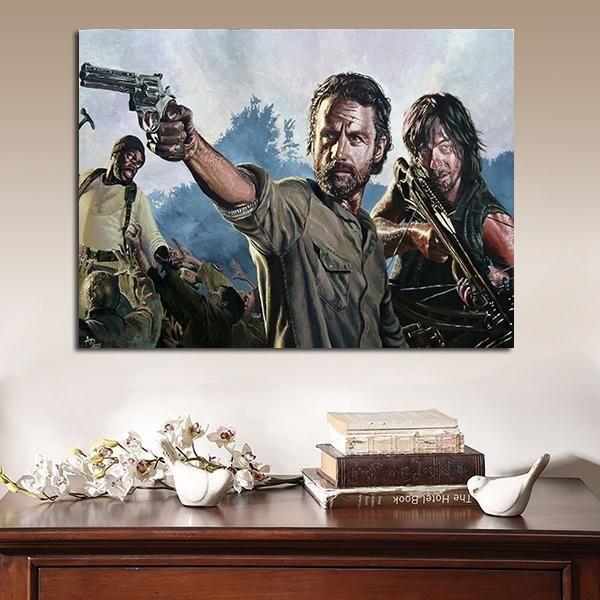 Walking Dead Rick Daryl Canvas Art Print
