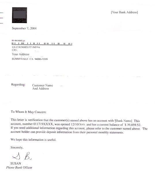 Customer Balance Confirmation Letter Sample
