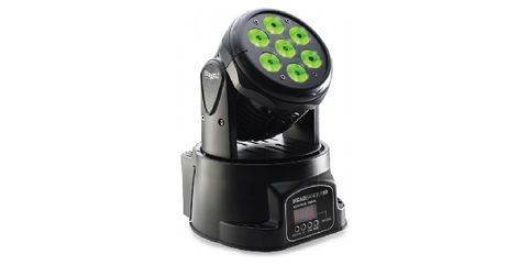 The Headbanger is motorized 180 degree moving head with 7 - 10W RGBW LED s. This unit has great action and is easy to use in sound mode with built in programs.