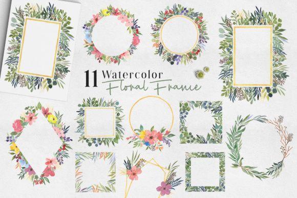 Ofi Watercolor Design Set Graphic By Adam Fathony Floral