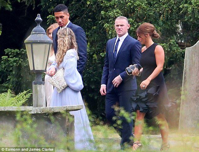 Wayne Rooney and Coleen attend Phil Jones wedding #dailymail