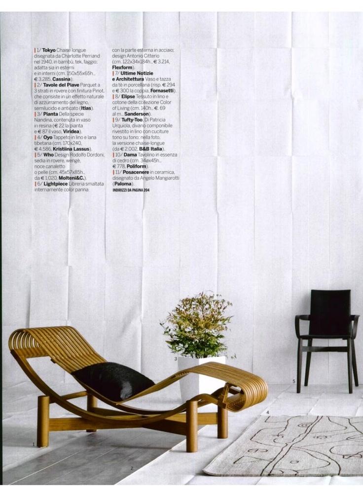 GRAZIA CASA - TOKYO OUTDOOR, design Charlotte Perriand