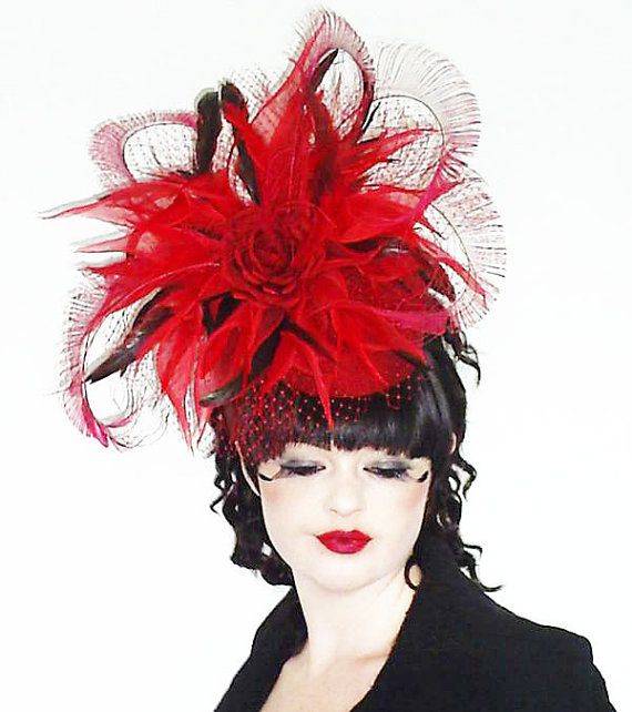 Poppy Red Pillbox Fascinator Hat by jessicabissell on Etsy