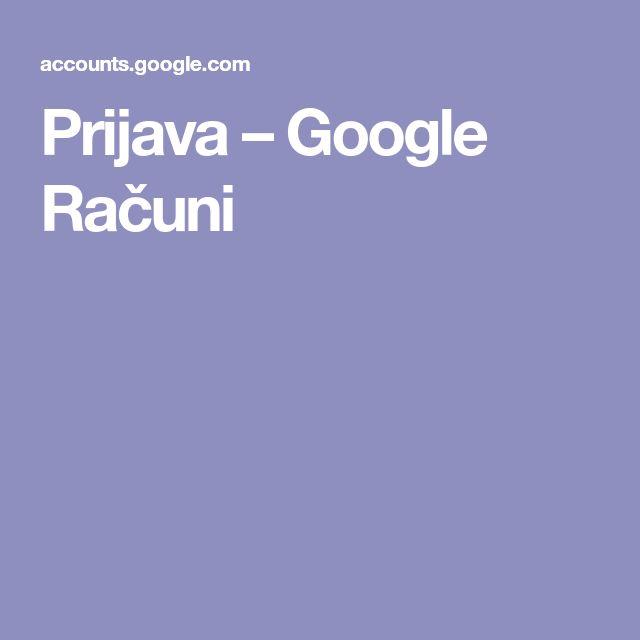 Prijava – Google Računi