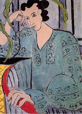 Henri Matisse,  The Romanian Green Blouse Fine Art Reproduction Oil Painting