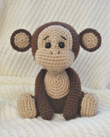 Patrón libre de amigurumi del mono travieso